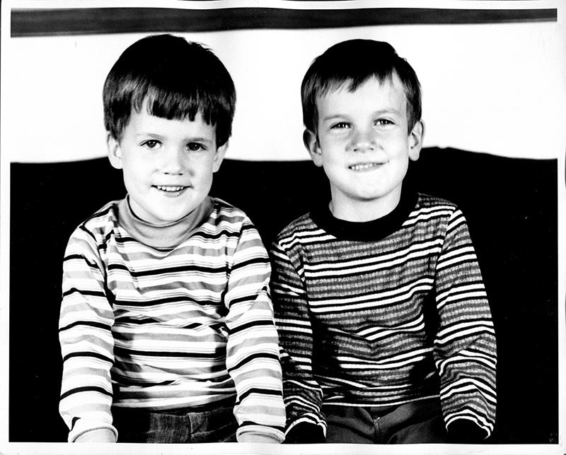 Les frères Canty (à gauche, Daniel Canty)